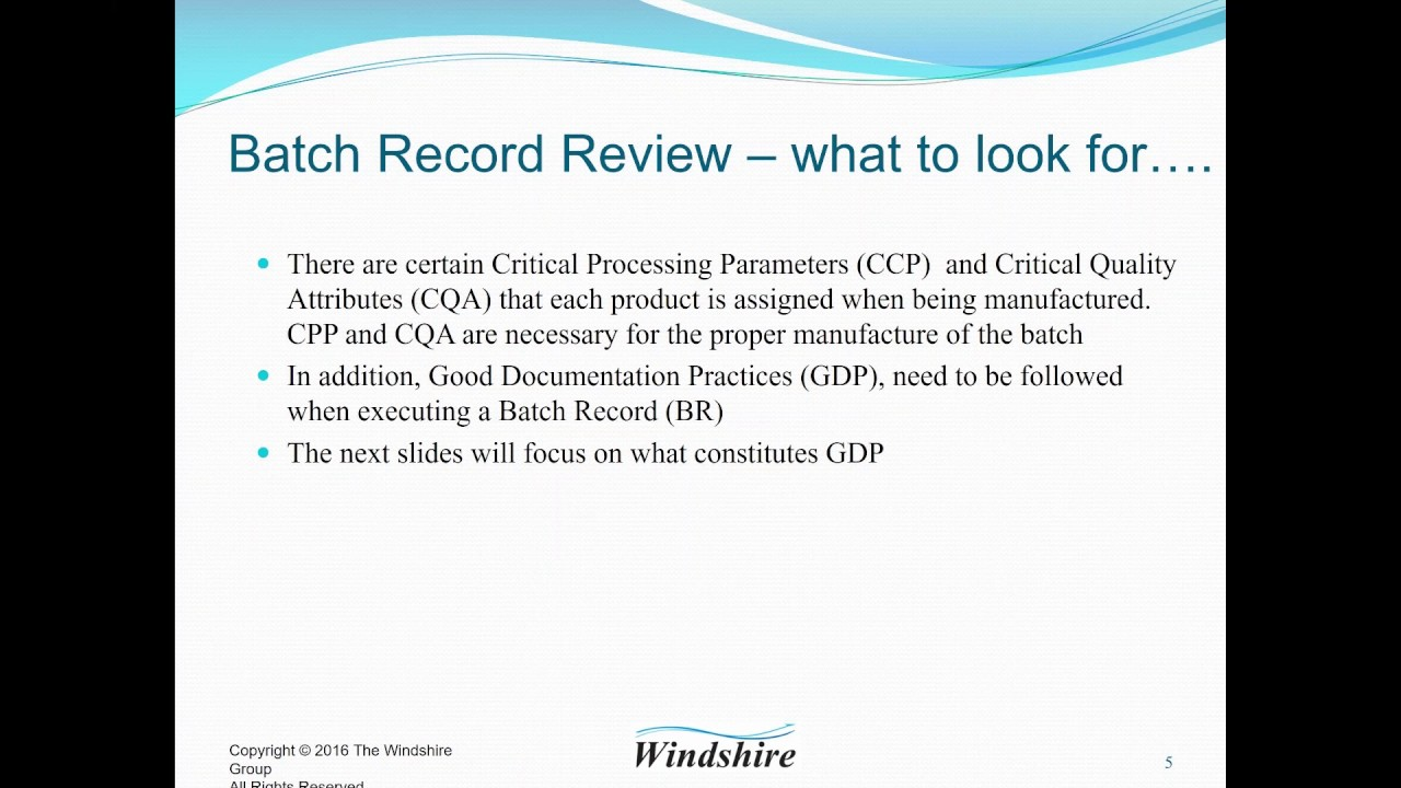 Batch Record Review-What to Look For