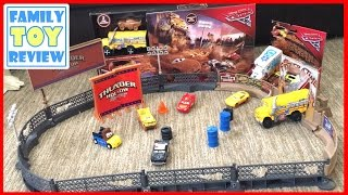Disney Cars 3 Toys - Miss Fritter Thunder Hollow Smash & Crash Derby Playset Toy - Crazy 8 Crashers