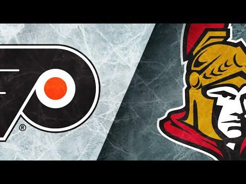 NHL   Flyers vs Senators Shootout, Hoffman scores game winner