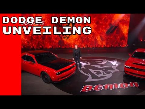 2018 Dodge Challenger SRT Demon Unveiling
