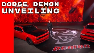 2018 Dodge Challenger SRT Demon Unveiling