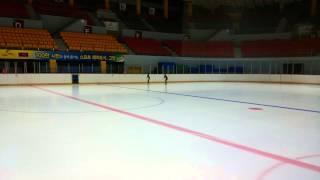 아람누리 아이스링크 스케이트 타기