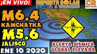 ALERTA SÍSMICA Y VOLCÁNICA GLOBAL ELEVADA - REPORTE SOLAR SÍSMICO Y VOLCÁNICO ¡EN VIVO! ENE 10 2020
