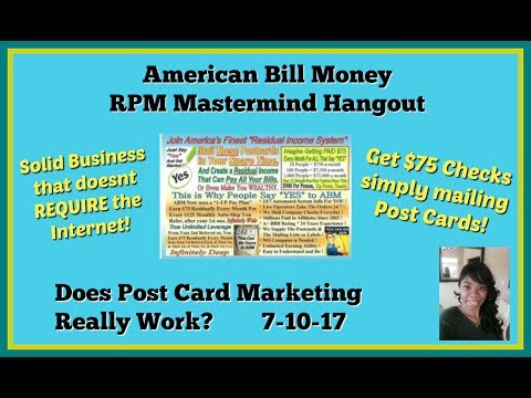 American Bill Money | Earn With Post Cards? Do Post Cards Really Work?