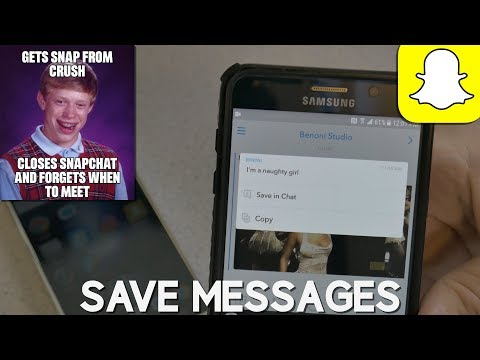 SNAPCHAT | HOW TO SAVE MESSAGES - DON'T LOOK STUPID 😲👍
