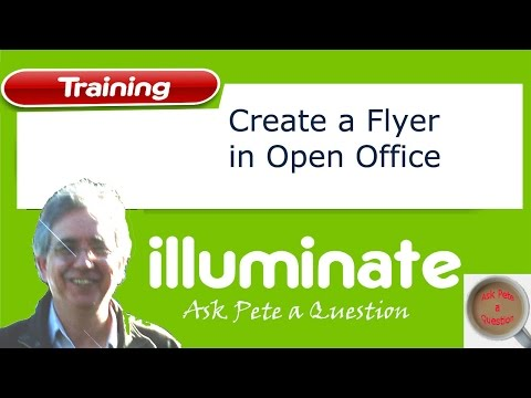 Make a Flyer With Tear-Off Tabs - Open Office - YouTube