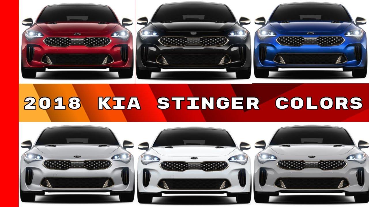 2018 Kia Stinger Colors Youtube