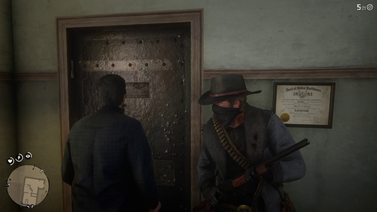 Red Dead Redemption 2 Bounty Hunters Robbing The Doctor S Illicit