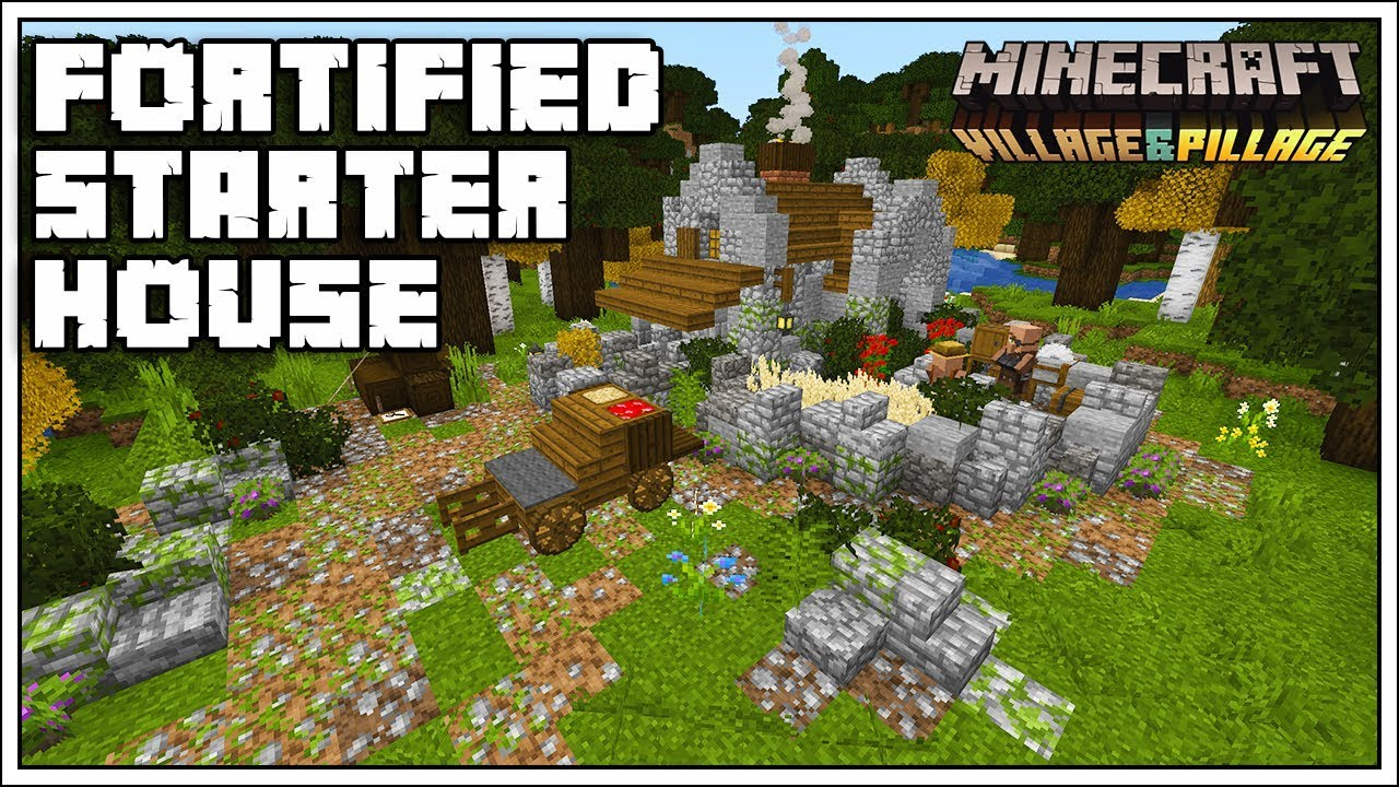 Minecraft 1 14 Fortified Survival Starter House Youtube