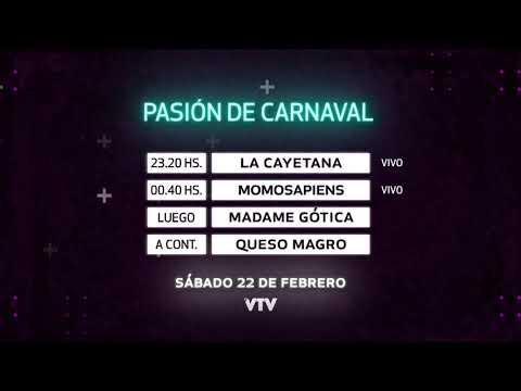 Agenda Carnaval – Sábado 22 de Febrero