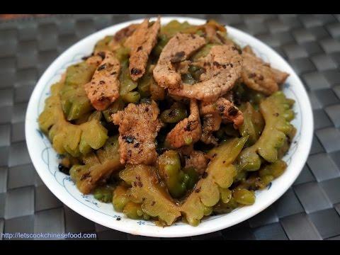 Hong Kong Recipe : Stir-fry Bitter Gourd with Pork