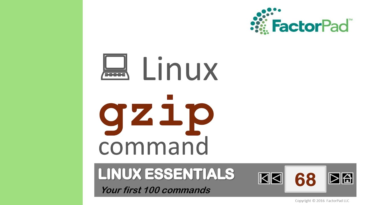 Linux gzip command summary with examples