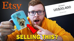 I TRIED SELLING ON ETSY FOR 21 DAYS AND MADE _______!