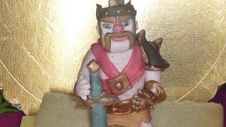 Clash of Clans Barbarian King Fondant Topper. Re barbaro clash of clans di pasta di zucchero