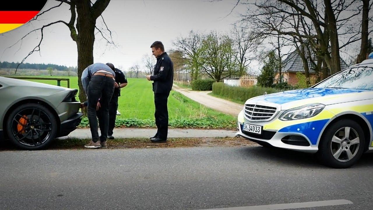 Ständig Polizei Mit Dem Lamborghini Huracán