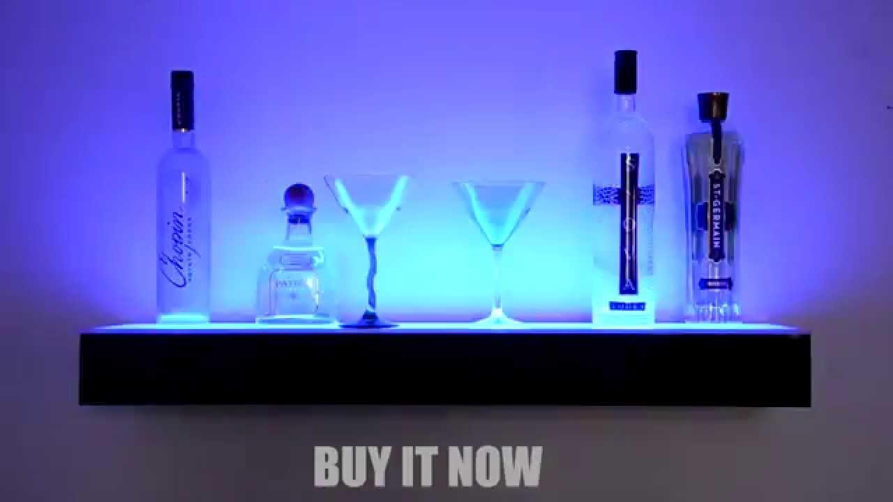 Lighted Bar Shelf