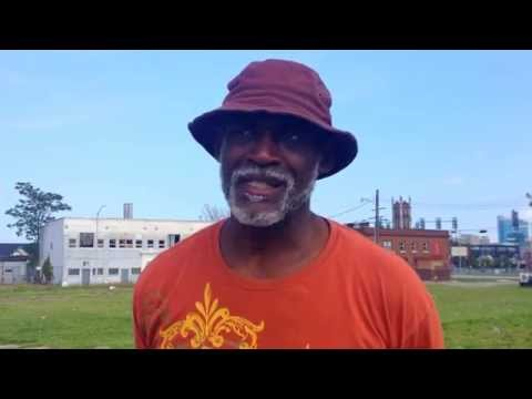 DETROIT - homeless Gerald in Midtown Detroit in the Cass Corridor