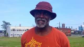 DETROIT - homeless Gerald in Midtown Detroit in the Cass Corridor