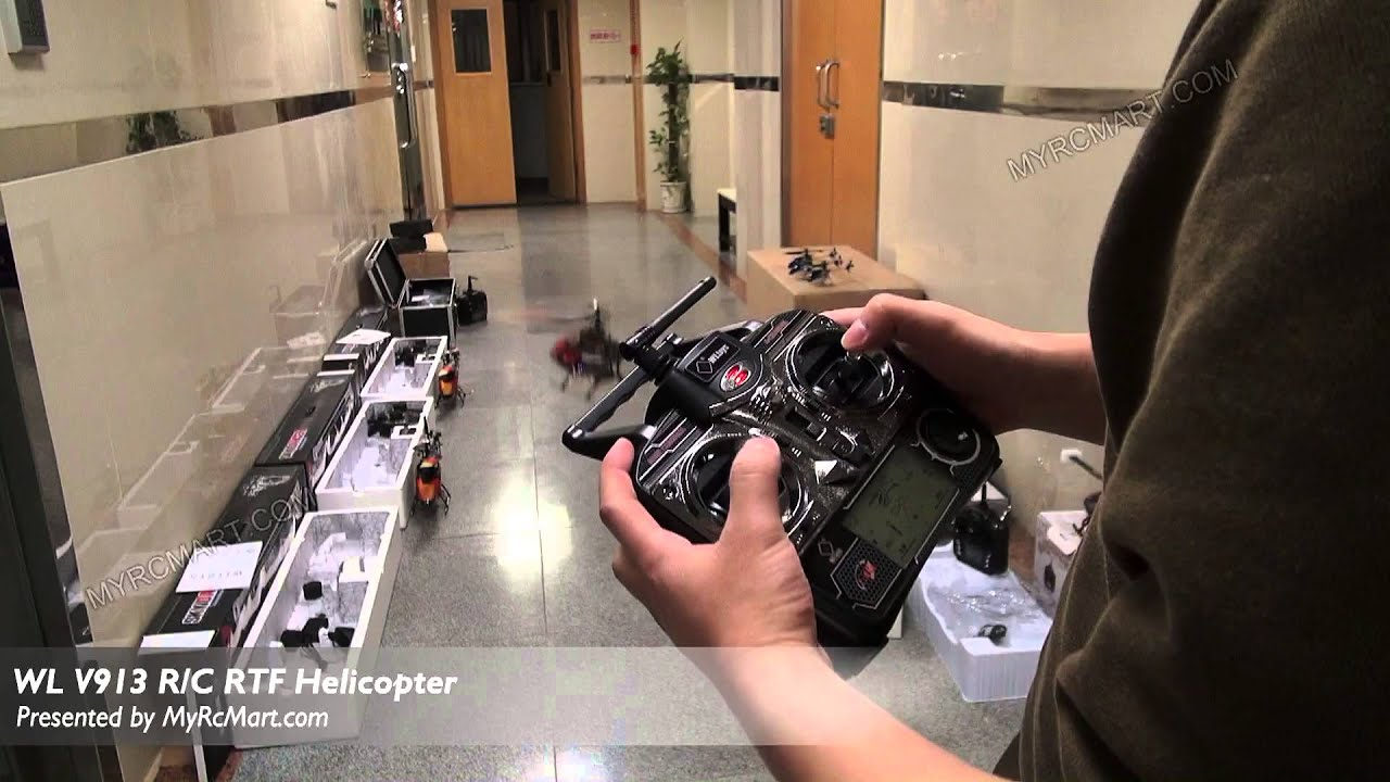 How To Fly And Charge Helicopter WLToys V913? - YouTube
