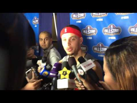 Stephen Curry says hello to the Caribbean Islands (Ayesha's mom is Jamaican), asked about Usain Bolt