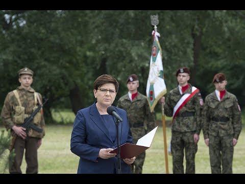 Premier Beata Szydło podczas uroczystości w Auschwitz
