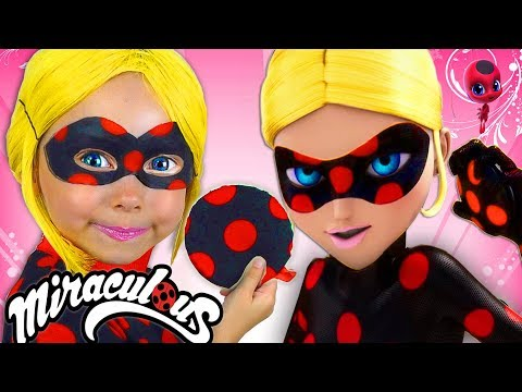 Alice in Costume Super Hero from LADYBUG  Miraculous shows magical abilities