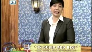 Latin Maxim: In Dubio Pro Reo