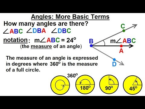 Geometry - Ch  1: Basic Concepts (16 of 49) Angles: MORE Basic Terms