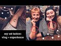 GETTING MY FIRST TATTOO (vlog + experience)