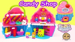Squinkies Cupcake Playset with Candy Store Inside + Shopkins Season 3 Blind Bag Unboxing