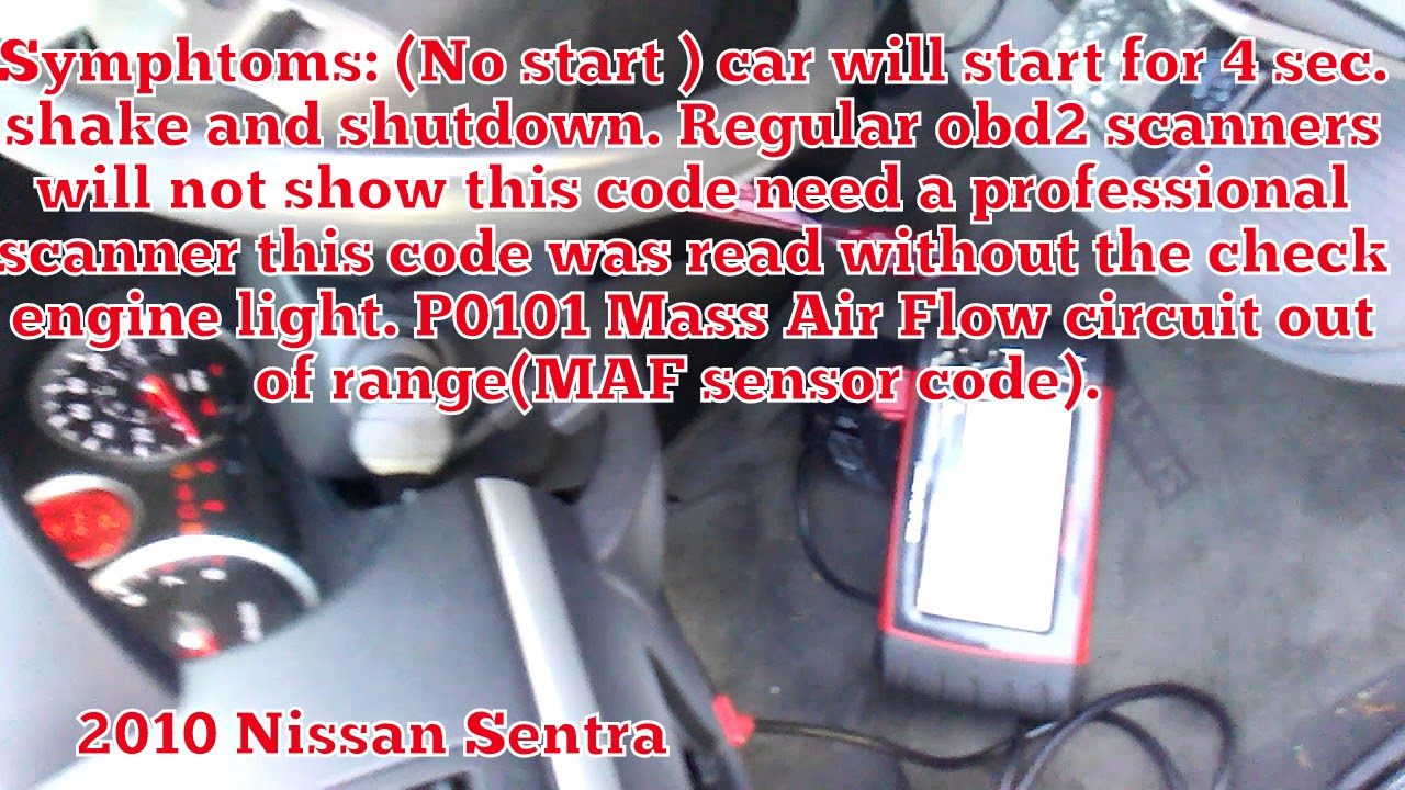 P0101 Nissan Altima 2013