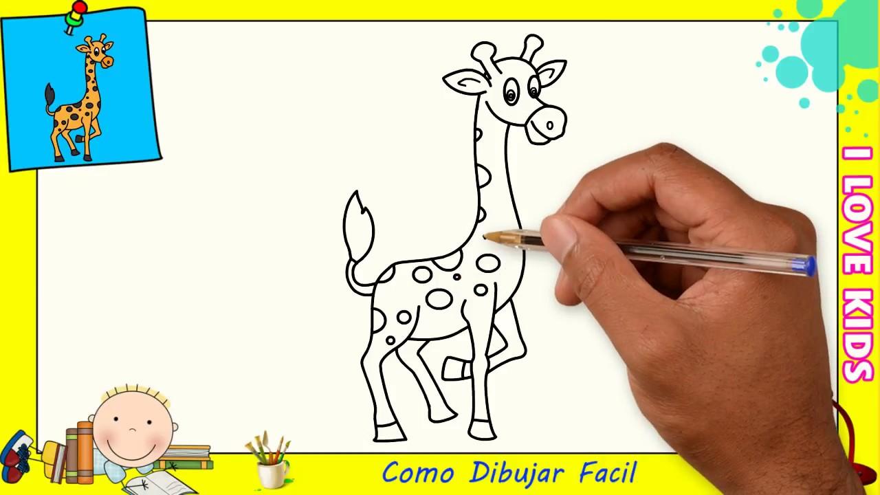 Como Dibujar Una Jirafa Facil Paso A Paso Para Ninos Y