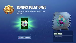 New THIS MANY SPRAY in Fortnite! (Birthday Challenges Event FREE Reward)