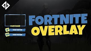 FREE Fortnite Battle Royale Stream Overlay TEMPLATE | Photoshop CC,CS6 | 300 SUBS