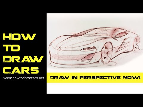 Car Design Drawings - Secrets of Drawing a Car in Perspective