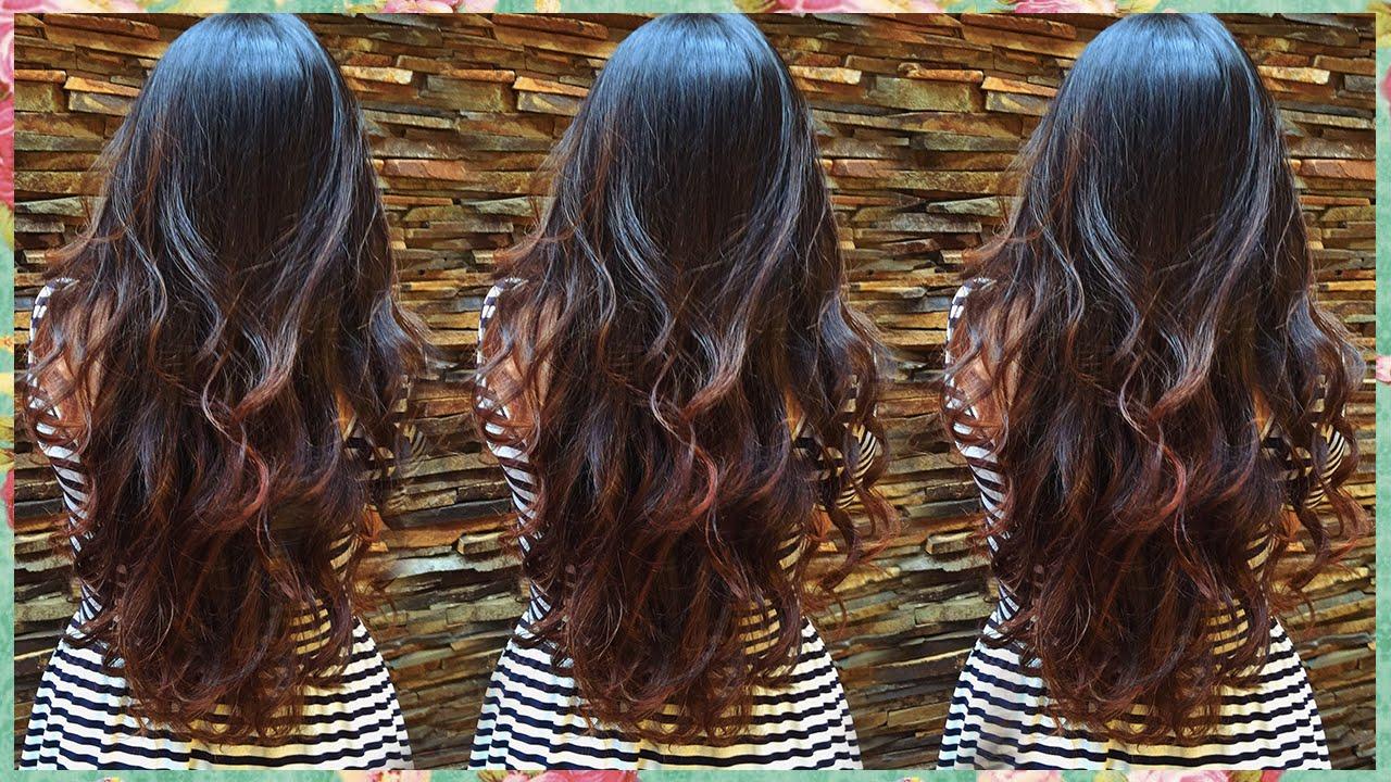 Ombre Hair Cobre Mel Em Cabelo Preto Youtube