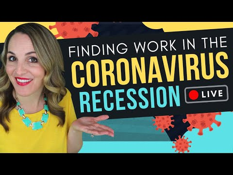 How To Find A Job In The Coronavirus Recession – 6 COVID-19 Job Search Tips