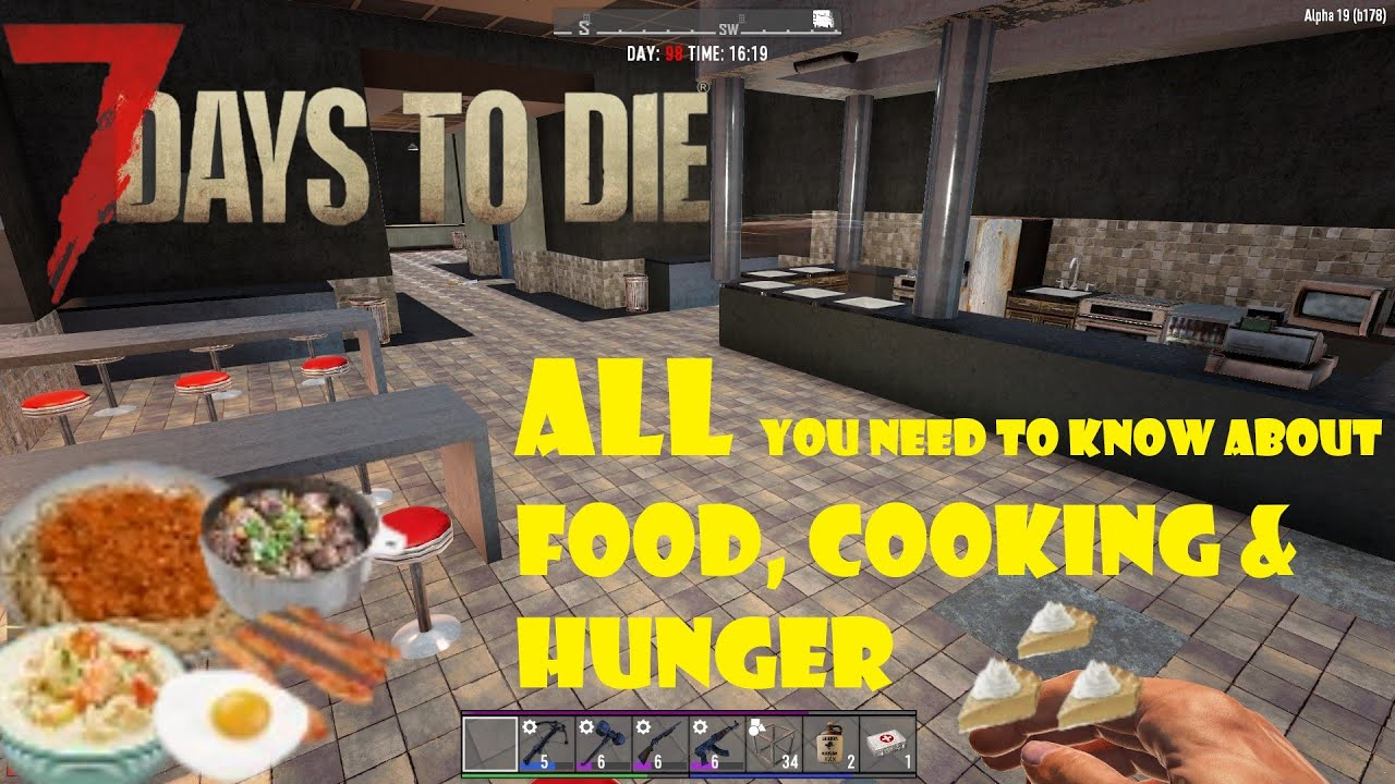 7 Days To Die Alpha 19 Drinks And Buffs Tips Youtube