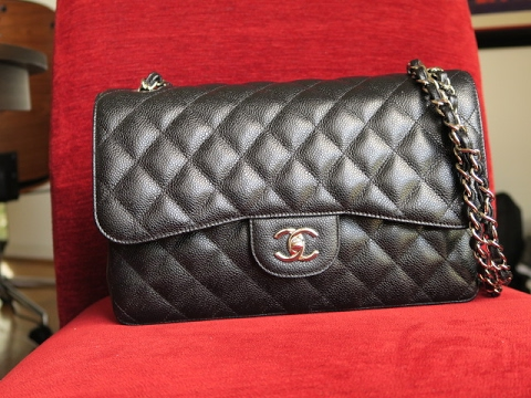 c9935bd9d1906 BRAND NEW Chanel Jumbo Caviar Flap Bag for Under  1800 and Unboxing ...