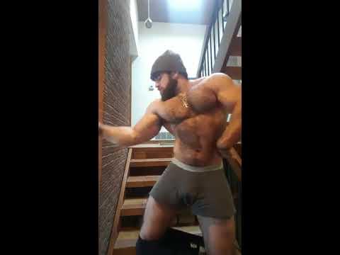 Hairy Muscle Worship #1: Big Biceps And Big Pecs