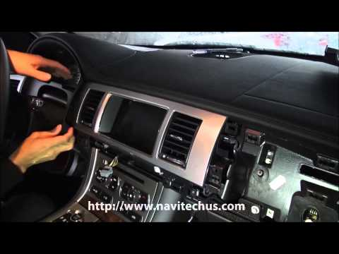 HOW TO DISASSEMBLE JAGUAR NEW XF HEAD UNIT For VIDEO INTERFACE CONNECTION