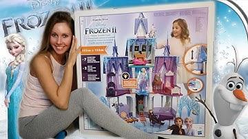 Frozen 2 Schloss Arendelle 🏰 Riesiger Prinzessinnen Palast 👑 Puppenhaus Tutorial Unboxing deutsch