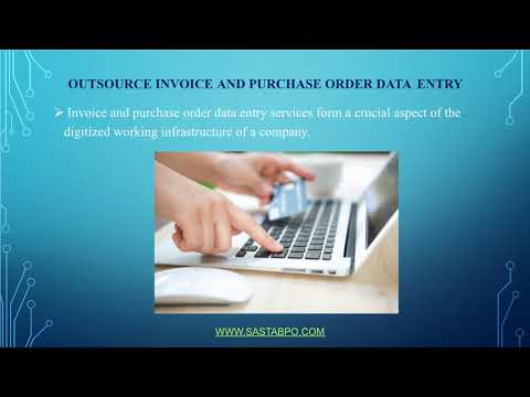 Outsource Invoice and Purchase Order Data Entry to Offshore Partner