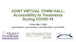 Joint Virtual Town Hall: Accessibility to Treatments During COVID-19