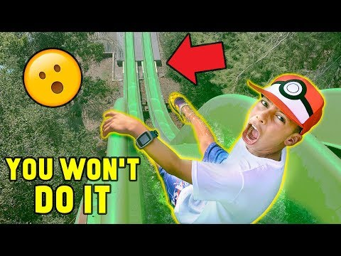 """YOU WON'T DO IT"" WATERPARK CHALLENGE!! (Win $1000) 