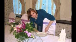 Студия Лоры Чайка. Оформление свадьбы цветами, шарами, тканью.