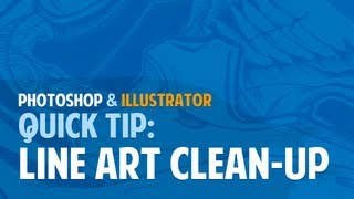 Photoshop and Illustrator Quick Tip: Line Art / Pen & Ink Clean-Up