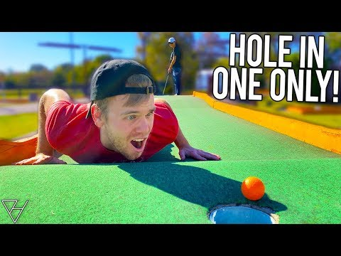 Mini Golf HOLE IN ONE ONLY Challenge! - Golf It IRL!