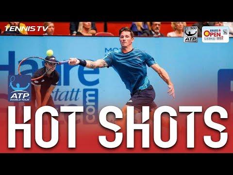Hot Shot: Novak Perfectly Lobs Edmund In Vienna 2017