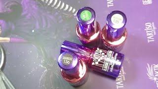 Nails online: Технология нанесения Colored Ice/silver base